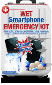 nödsats för våt smartphone