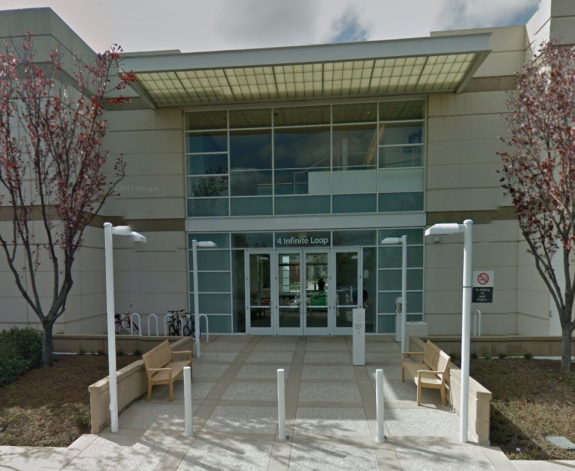Eventet iPhone 5S och iOS 7 äger rum i Apples rådhus.  Bild via Google Street View.