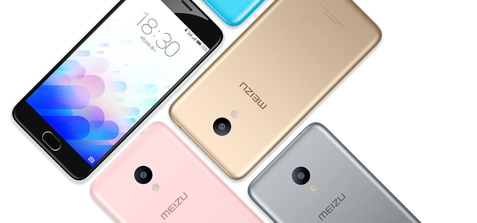 Meizu m3 i olika färger