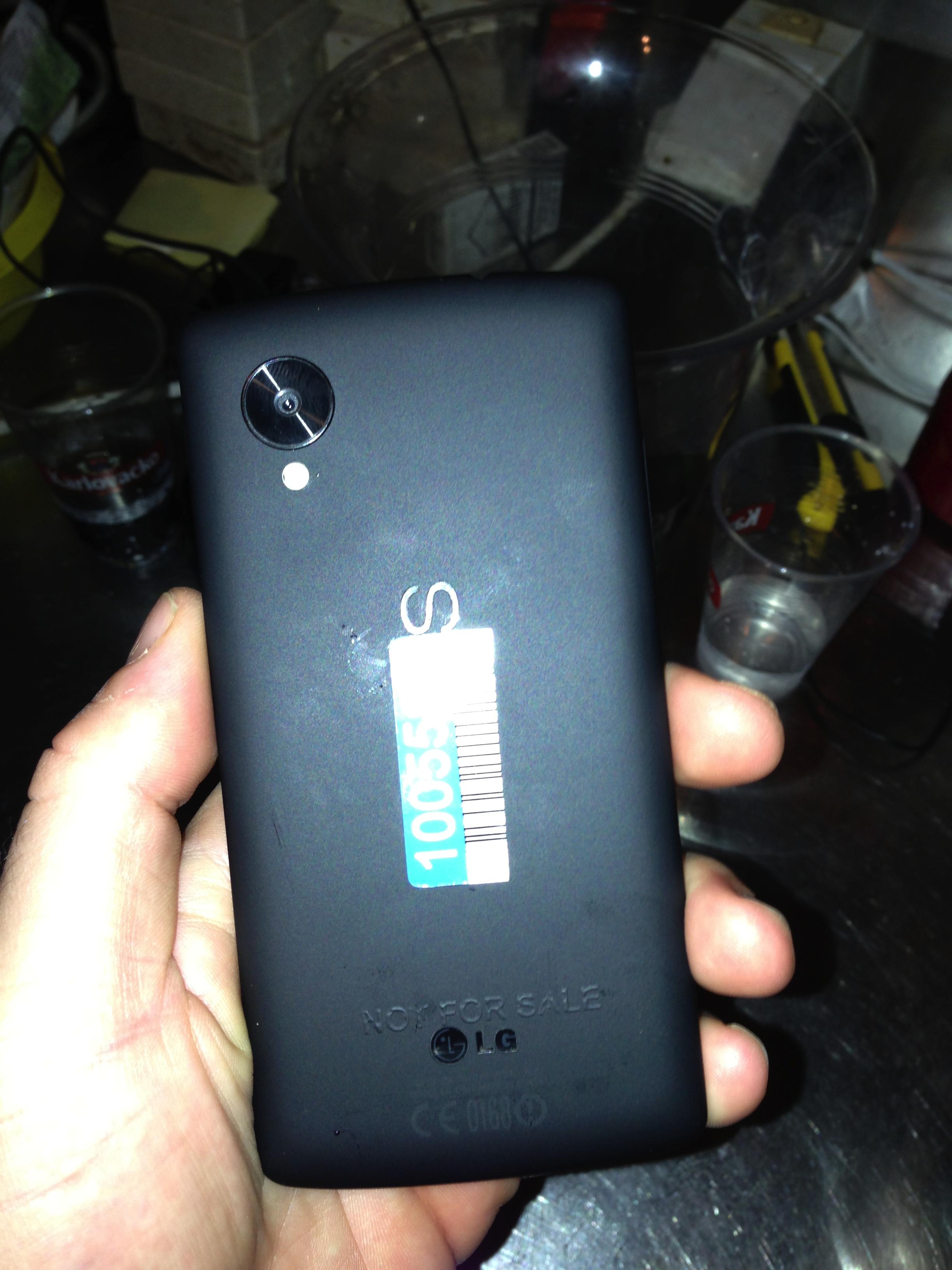 Detta kan visa baksidan av Nexus 5.