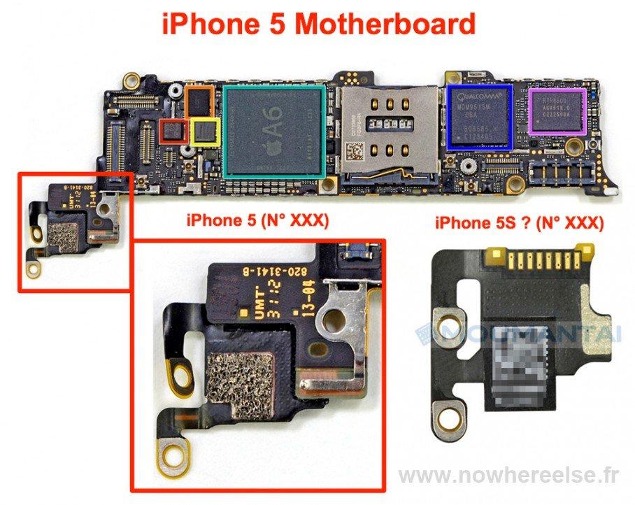 Denna påstådda del av iPhone 5S -moderkortet kan anslutas till kameror, vilket ger tyngd åt iPhone 5S -kamera rykten som hävdar förbättrade specifikationer och mindre storlekar.