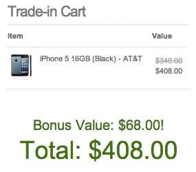 Få en iPhone -handel i bonus på 20%.