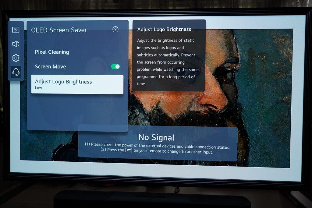 LG OLED Justera skärmens ljusstyrka