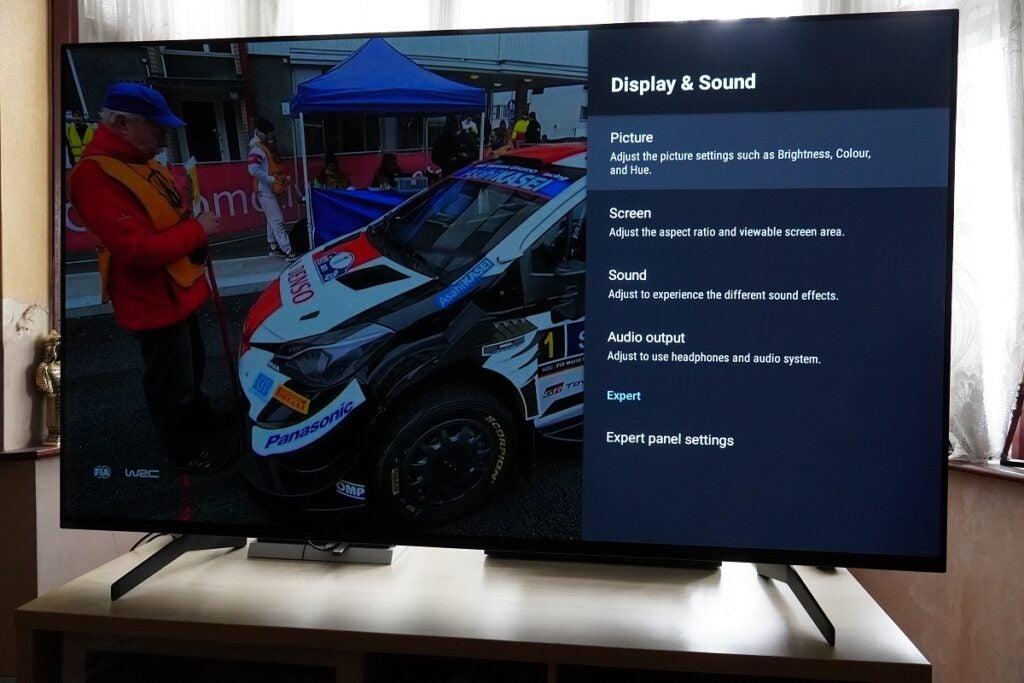 Sony OLED Expertinställningar