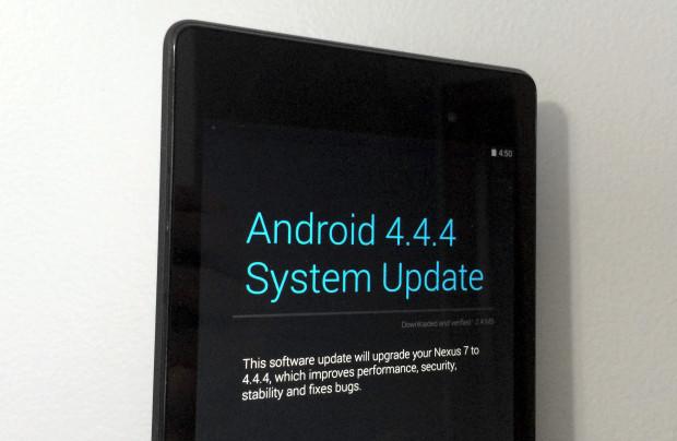 Uppdateringen av Android 4.4.4 installeras smidigt på Nexus 7 2013