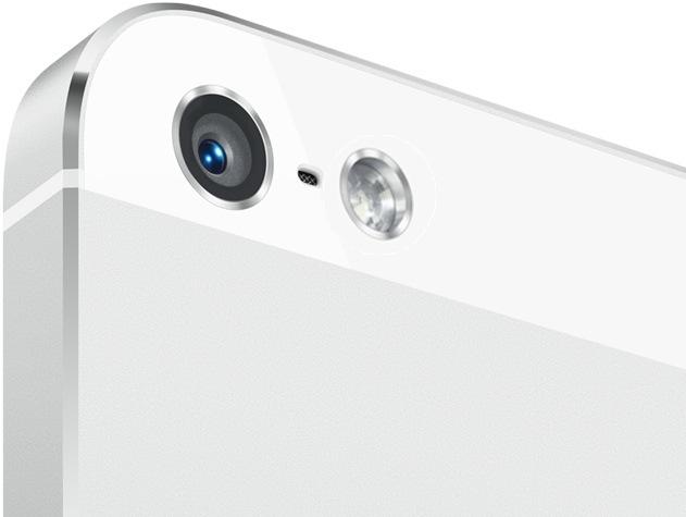 Apple kan stapla en dubbel-LED-blixt med en något större blixt bredvid på baksidan av iPhone 5S.