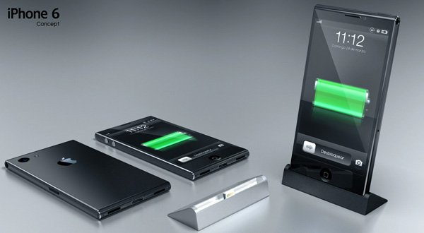 Detta iPhone 6 -koncept använder magneter för att fästa på en officiell iPhone -docka med en Lightning -anslutning.