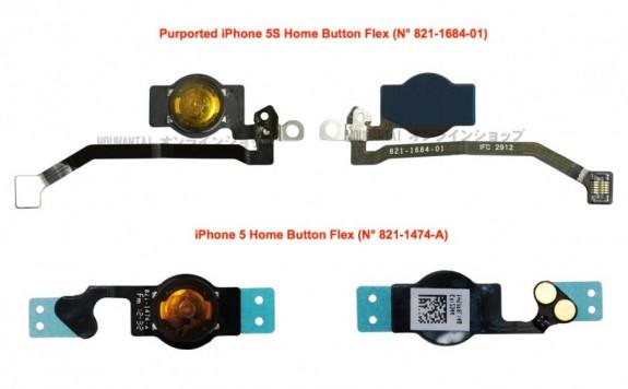 En påstådd iPhone 5S -hemknappsdel läcker före lanseringen.