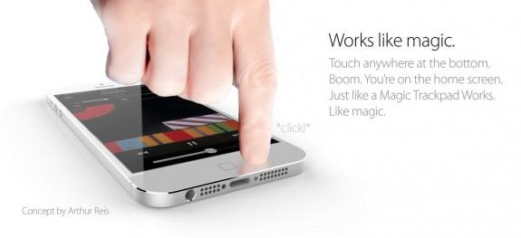 Detta iPhone 6 -koncept har en touchknapp hemifrån.
