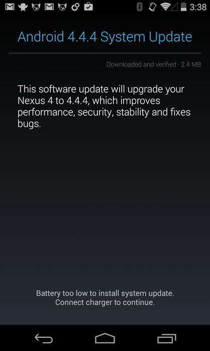 Förutom Googles Nexus -enheter förväntas Android 4.4.4 KitKat -uppdateringen landa för Droid Ultra, Droid Maxx och Droid Mini.