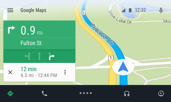 Så här kommer Android Auto -kartor att se ut, drivs av Google Maps och Android L.