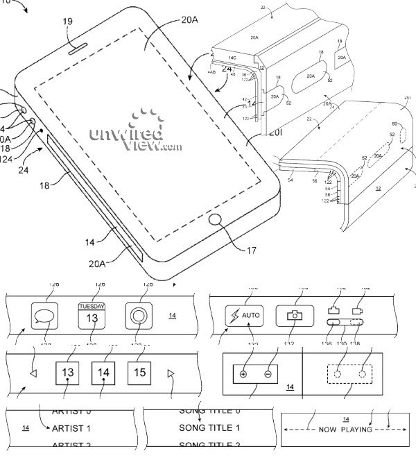 iPhone-flexibel-sidovägg-display