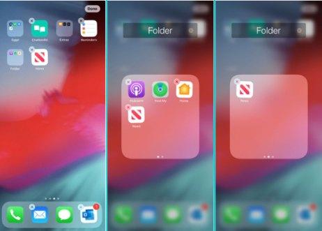 dölj appar på iPhone