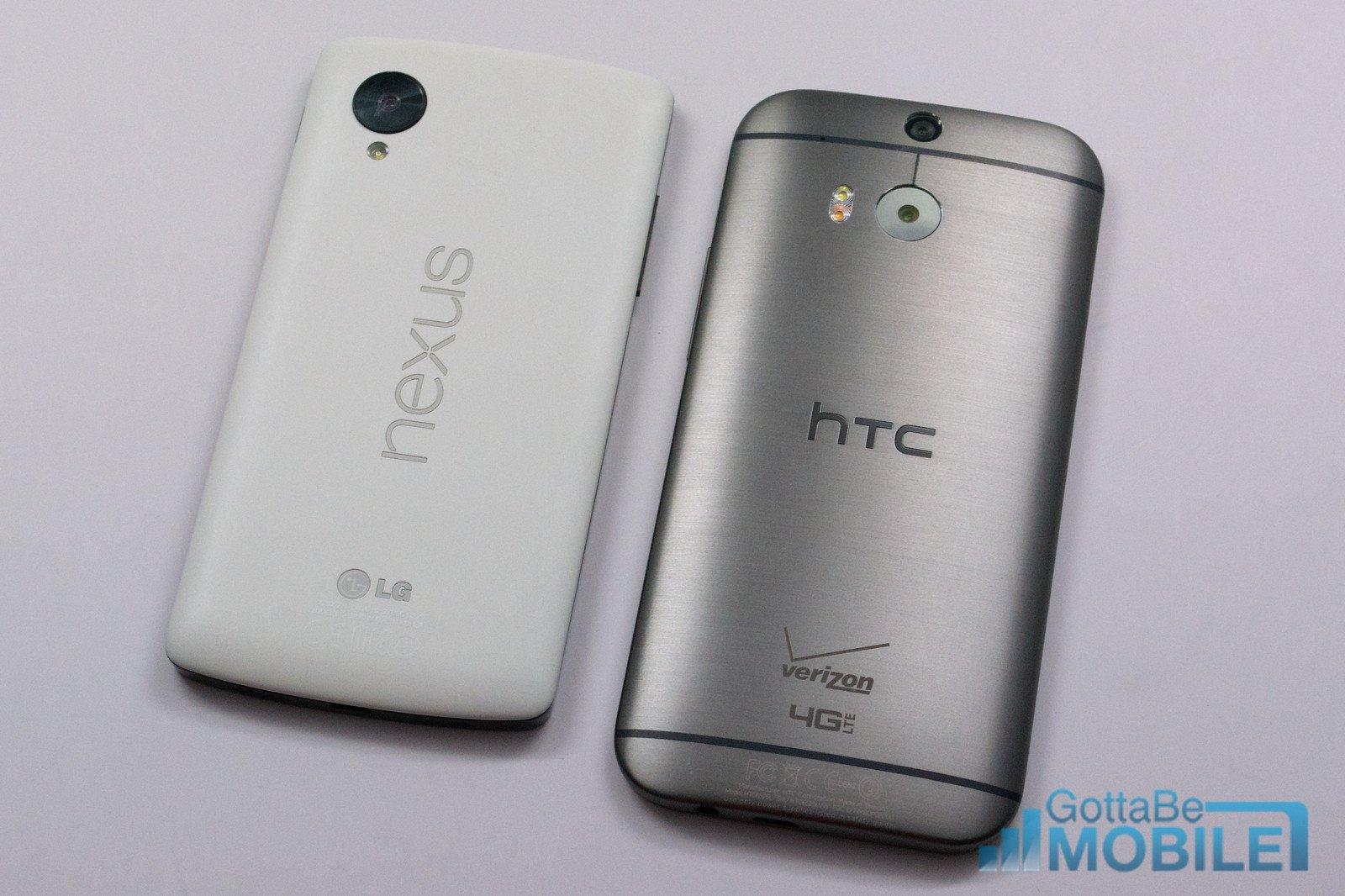 Ny HTC One M8 vs - Nexus 5 -X3