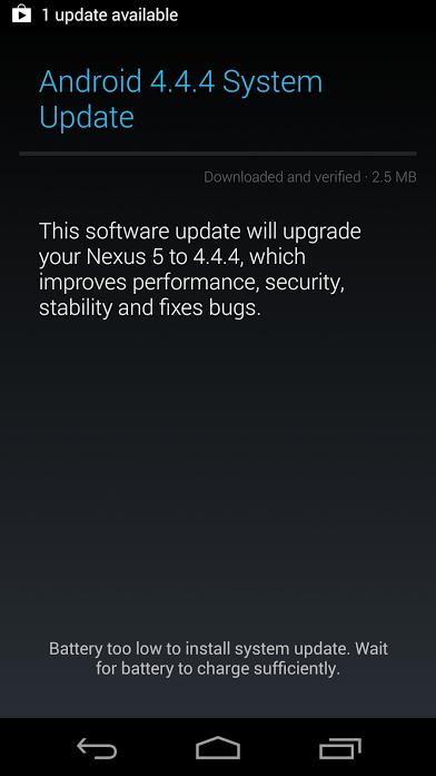 Googles Android 4.4.4 KitKat -utrullning fortsätter idag.