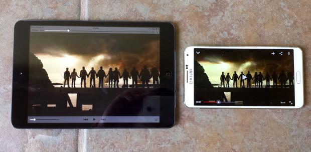 Galaxy Note 3 vs iPad mini 2-4