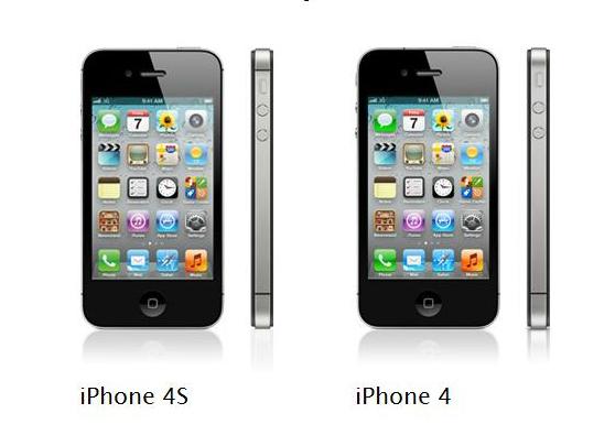 IPhone 4 och iPhone 4S är nästan identiska.