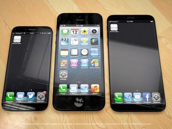 Detta iPhone 6 -koncept från Martin Hajek och Nowehreelse.fr visar hur Apple kunde leverera en iPhone med flera skärmstorlekar, men fokuserar på iPhone 6.