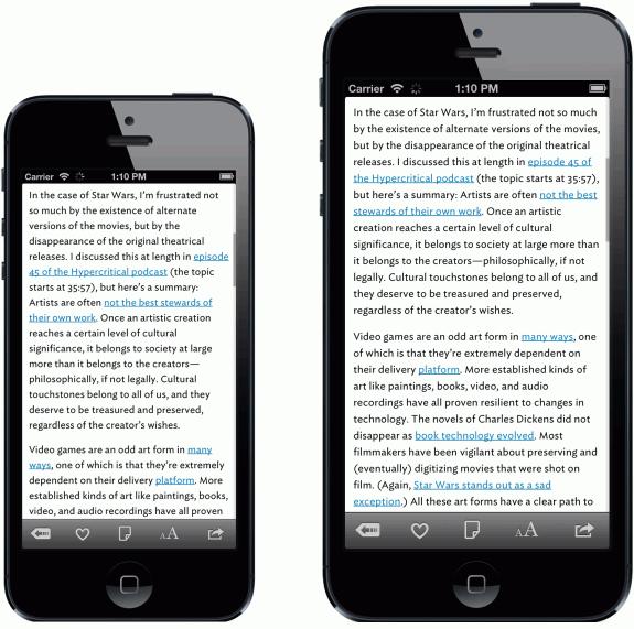 Den här bilden visar hur Apple kunde leverera en iPhone 6 och en större iPhone 6.